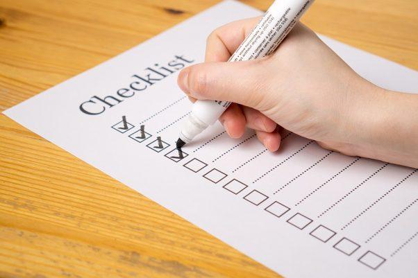 making list checklist ticks tick box space