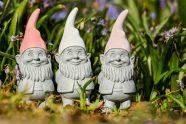 Three garden gnomes