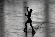 Ice skater silhouette
