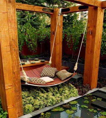 Railway sleepers hammock