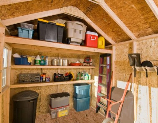 Tidy wooden shed